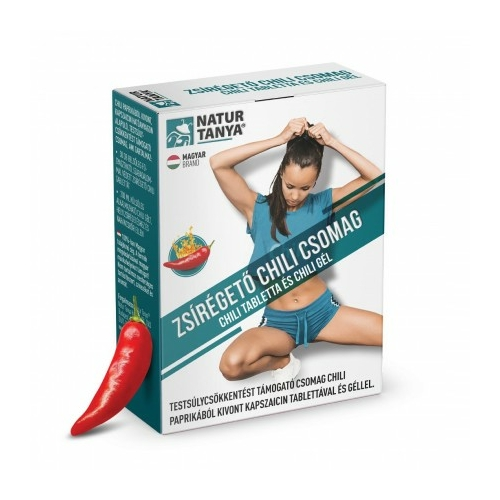 Natur Tanya® Zsírégető Chili csomag - testsúlycsökkentést támogató csomag chili paprikából kivont kapszaicin tablettával és géllel